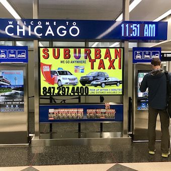 Clear Channel Airports ADA Compliant Interactive Digital Signage
