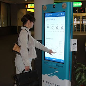Columbus Airport Interactive Wayfinding Kiosks
