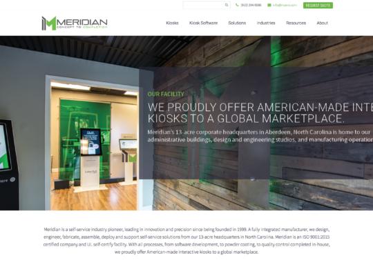 Meridian Website Homepage