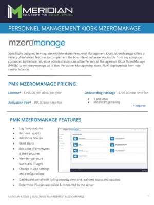 PMK MzeroManage Sales Sheet