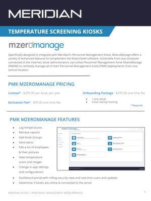 Meridian Kiosks_PMK MzeroManage Spec Sheet